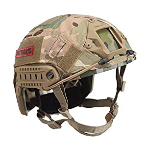 OneTigris Casque Du Type PJ Tactique Militaire Avec Housse De Protection Pour Airsoft Paintball