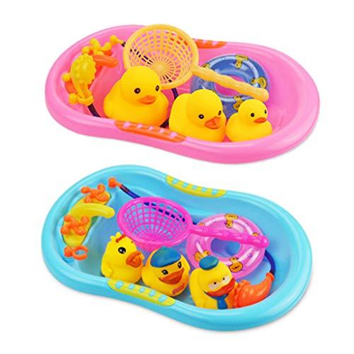 Yubusiness Gelbe Ente Schwimmen Ring Rettungsring Set Badespielzeug Baby Spielzeug Pädagogisches Spielzeug