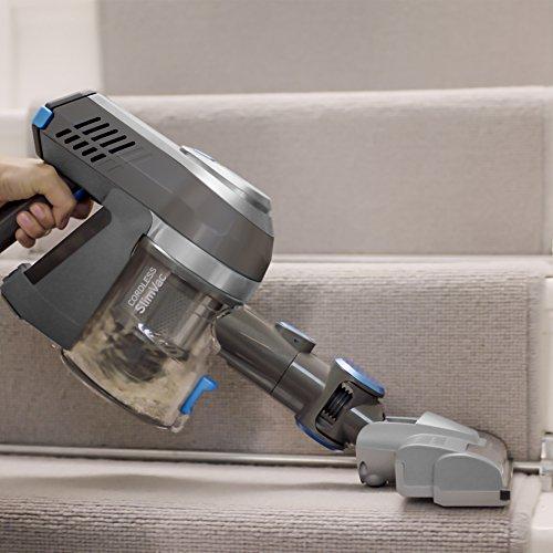 51ENOAGDAQL. SS500  - Vax Cordless SlimVac Vacuum Cleaner, 0.6 Litre, 18 V, 130 W, Silver/Blue