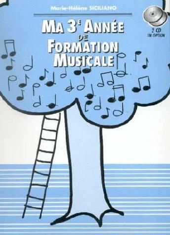 Partition : Ma 3ème Année de Formation Musicale - Livre - Reliure Spirale