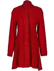 Envy Boutique - Cardigan Haut Femme Crochet Style Petit-Ami Grande Taille 44 - 54
