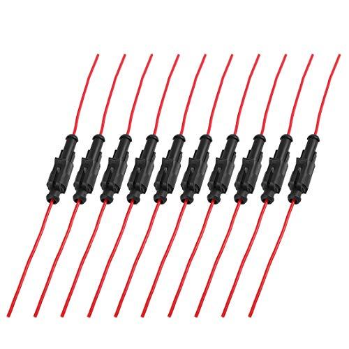 AUTOHAUX, 10 connettori per Cavi elettrici, Impermeabili, 1 Pin, per Auto