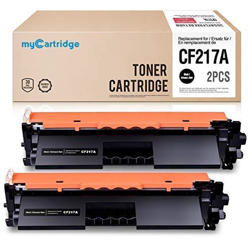 Mycartridge Tóner Compatible para HP CF217A 17A Toner para HP Laserjet Pro MFP M130fw M130nw M130fn M130a HP Laserjet Pro M102w M102a 2-Pack (Negro)
