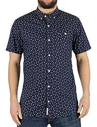 chemise manches courtes Hilfiger Denim dm0dm02197 bleu