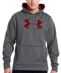 Sweat de Rugby à Capuche Grand Logo Bruyère Charbon/Rouge - taille 3XL