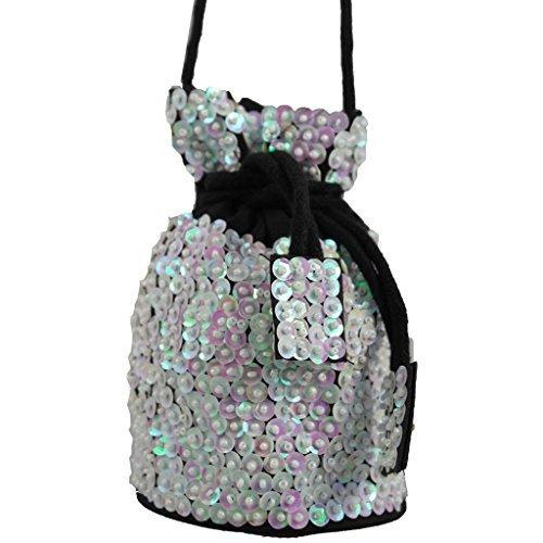 In Handbag Heaven Paillettes couverte sac parti, sac à bandoulière, blanc