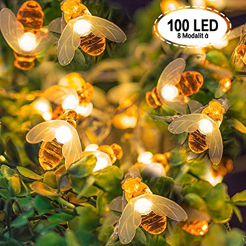 Cadena Luces API, jolvvn® LED bombillas 100Ape