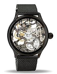 cd144d458b5a Davis Reloj Esqueleto para Unisex Adultos de Mecánico con Correa en Acero  Inoxidable 0899MB East
