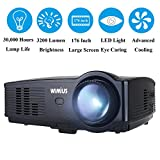 Projector,Video Projector HD 3200 Lumens Portable LED Projectors 1080P 1280*800 Multimedia Home Cinema Theater for Games and Parties Support PC Laptop Smartphone Xbox TV Box(Black)