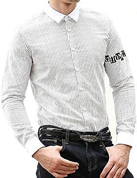 OPP -  Camicia Casual  - A quadri - Con bottoni  - Uomo