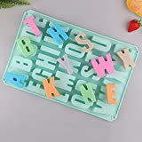 Moule Silicone, Moule Silicone Patisserie, 26 Lettres Moule Savon, Moule glace Silicone Moule beton Bonbon Savon Chocolat Bis