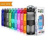 HoneyHolly Sport Trinkflasche - 400/500/700/1000ml - BPA frei wasserflasche auslaufsicher für Gym, Laufen, Yoga, Camping, Outdoor, Männer, Frauen, Kinder - Tritan...
