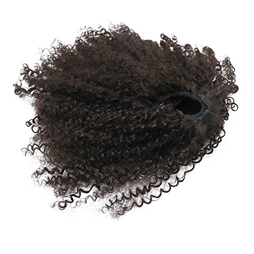 Afro puff sintetico kinky curly drawstring ponytails estensioni per africano american3 c 4 a wrap pony tail kinky extension per capelli ricci afro kinky curly ponytail chiusura superiore con pettini