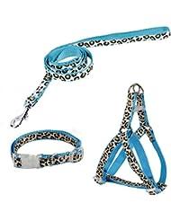 Arnes correa y collar para perros diseño leopardo