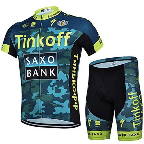 ZHANG Herren Radtrikot Set, Schnell Trocken Radsportanzug mit Bib Shorts für Radfahren MTB, (7,L)