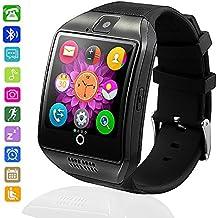 Smartwatch Bluetooth Wasserdicht, axcella 2018New Smartwatch unterstützt SIM/TF-Karte Smart Armband Band Sport mit Schrittzähler Schlafen Monitor Facebook WHATSAPP Smartwatch für iPhone Andorid Smartphone