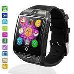 Bluetooth Reloj Inteligente Impermeable, AxCella SmartWatch Soporte SIM/TF Tarjeta Iinteligente con el podómetro Monitor de dormir Facebook Whatsapp Smart Watch Mujer Hombre para Android Smartphone