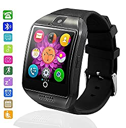 Bluetooth Smartwatch Waterproof, Axcella Smartwatches Support Simtf Card Smart Watch Band Bracelet With Pedometer Sleeping Monitor Facebook Whatsapp Smart Watch Andorid Samsung Huawei Sony Htc Etc.