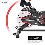 Miweba Sports Indoor Cycling MS100 Fitnessbike - 10 Kg Schwungmasse - Stufenfreie Widerstandsverstellung - Pulsmessung (Schwarz) - 3