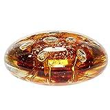 Hübsch - Briefbeschwerer, Dekoobjekt, Glasobjekt - Honig Braun - von Hand gefertigt - Mundgeblasen - Ø: 10 cm