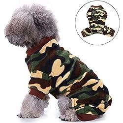 Elegante Camiseta de Camuflaje Verde Militar para Mascotas, Gatos, Camuflaje, Ropa Large Camouflage