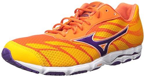 Mizuno Wave Hitogami 3 Mujer US 6.5 Naranja Zapato para Correr