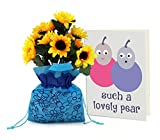 #7: TiedRibbons® Sunflower Bunch with Sack and Greeting card | Wedding Anniversary gift for Him | Anniversary gift for Hubby | Anniversary gift for Wifey | Marriage Anniversary gift for Wife