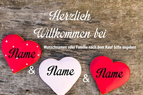 "Willkommen bei Fussmatte m. Wunschnamen "" - Fussmatte bedruckt Türmatte Innenmatte Schmutzmatte lustige Motivfussmatte"