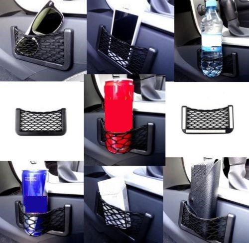 Ablagefach Ablagenetz Handyhalter Smartphone Ablage Getränkehalter Brillenhalter Etui Stauraum Haltenetz UNIVERSAL für PKW LKW BOOT klein