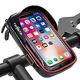 TURATA Fahrrad Lenkertasche Wasserdicht Rahmentaschen Multifunktional Motorrad Handyhalterung für 6
