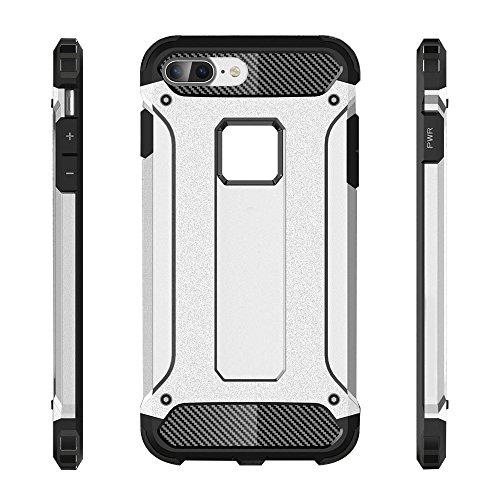 iPhone 7 Plus Custodia, 2-in-1 Cases Protettivo Estrema Assorbimento-Urti Armatura Cover Per iPhone 7 Plus. (Rosso) Oro