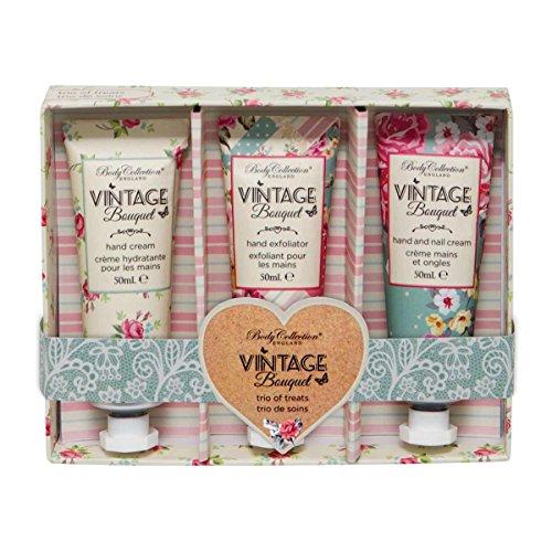 Romantisches Geschenkset mit englischen Vintage Hand-Pflegeprodukten, 3 x 50ml