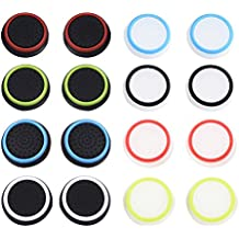 Mudder Cubierta Protectora de Apretones de Pulgar de Silicona para PS4, Xbox 360, PS3 Controladores, 8 Pares, Colores Mezclados