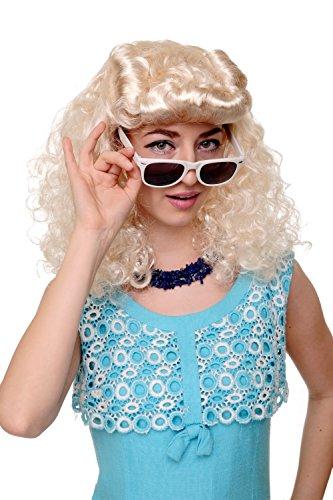 Wig me up - Perücke Faschingsperücke Karneval Damen Scarlett Rockabilly 50er blond hellblond Tolle WIG018-P88