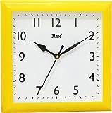 Theo Quartz Yellow White Wall Clock for ...