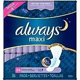 Always Maxi Extra Heavy Overnight Always Maxi Extra Heavy Overnight Size 5 with Flexi-Wings 36 Pads (Pack of 2)