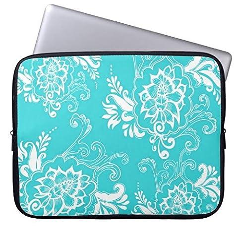 MacBook Air Cute Hüllen 38,1cm klassisch-elegantem Elegant Girly Aqua Blau geblümt Computer (Aqua Ärmel)