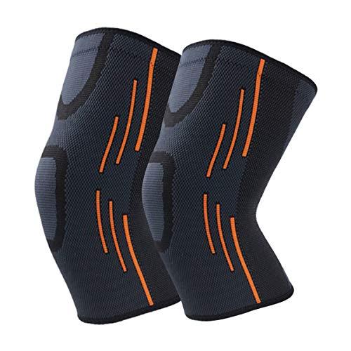 Knieschoner Knieschützer 1 Paar Kniebandage Kompressionsbandage für Damen & Herren, Unterstützung beim Laufen, Joggen, Kraftübungen, Gelenkschmerzen
