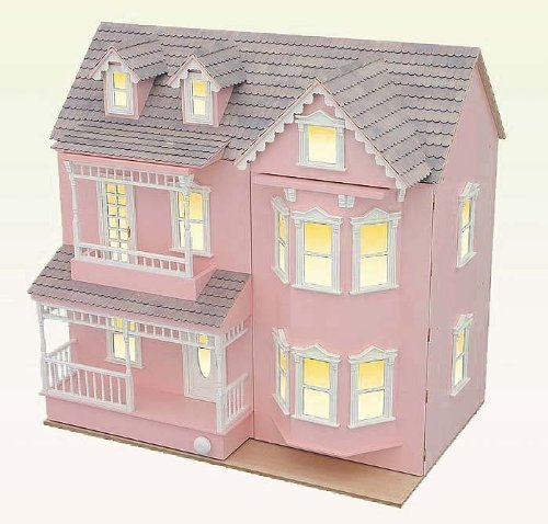 Large Victorian Doll House - City Villa - Made of wood