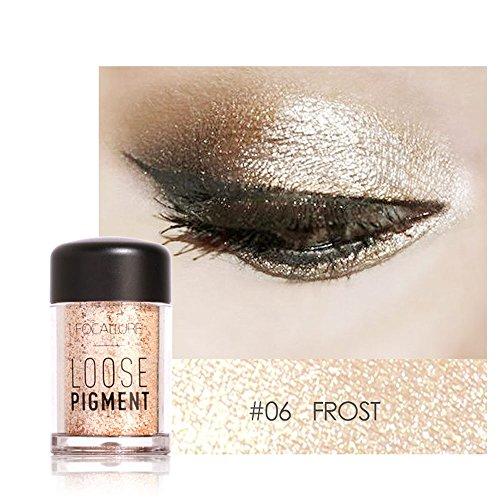 Lidschatten Palette OVERMAL Sparkly Makeup Glitter lose Puder Lidschatten Silber Lidschatten Pigment...