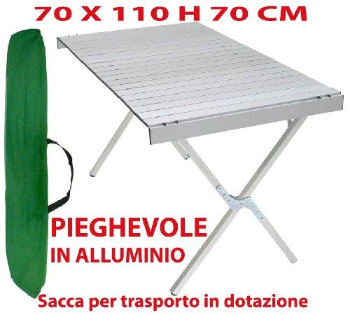 Tavoli Pieghevoli Alluminio Offerte.Tavolo Tavolino Pieghevole In Alluminio 70x110 Cm Per Campeggio Casa