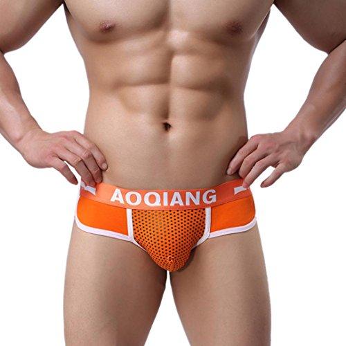 Dessous lingerie Damen,Yanhoo Heiße Mode Unterwäsche Mode Herren Boxershorts Shorts weiche Baumwolle Unterwäsche Ausbeulen Beutel Unterhose (S, Orange) (Weiche Shorts Womens)