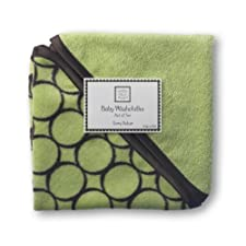 SwaddleDesigns Organic Cotton Baby Washcloths, Brown Mod Circles, Set of 2 in Lime by SwaddleDesigns (English Manual)