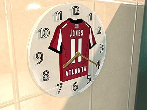 ATLANTA FALCONS NFL JERSEY WALL CLOCK - NFC SOUTH - ANY NAME & NUMBER, YOU CHOOSE - BRAND NEW ACRYLIC SHIRT DESIGN