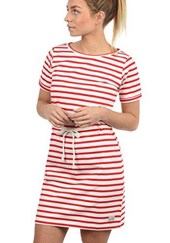 Blend She Ena Damen Sweatkleid Sommerkleid Kleid Mit Rundhals Aus 100% Baumwolle, Größe:M, Farbe:Fiery Red (26000) (100% Baumwolle Jersey)