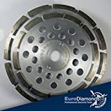 Diamant Topfschleifer Schleiftopf STD, Ø 180 mm, doppelt belegt, für Beton, Estrich und Naturstein