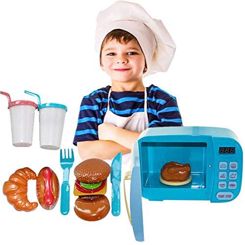 Tosbess microondas Juguete luz Sonido microondas Juguete niños - Chef Horno eléctrico multifunciones para niños 2 3 4 5 6