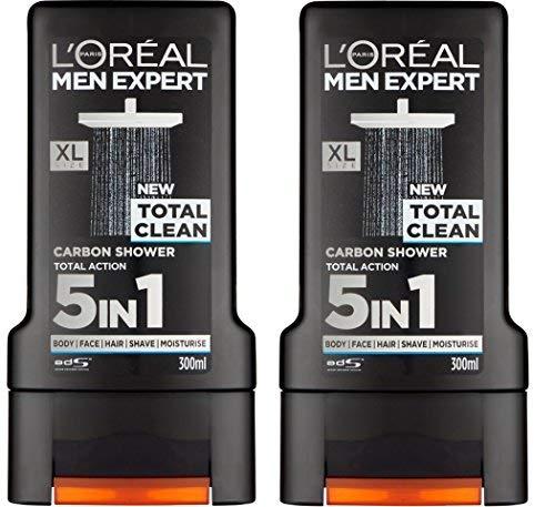 x2 L'Oreal Paris Men Expert 5 in 1 sauberes Duschgel 300ml