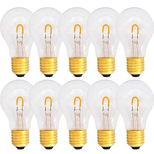 LED curved Filament Leuchtmittel 1W = 15W E27 klar 90lm extra warmweiß 2400K für außen und innen -