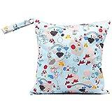 JUNGEN borsa pannolini lavabili animale modello diaper bag impermeabile sacchetto del pannolino con cerniera per carrozzina
